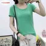 เสื้อยืดสีสันสวยๆ ใส่ได้ทุกยุค ทุกสมัยแฟชั่น คอกลม - เขียว
