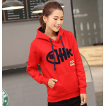 เสื้อกันหนาวแฟชั่น กับลวดลายเท่ห์ๆ ขนาดเข้ารูปกำลังดี พร้อมฮูดเอาไว้ใส่กันลมหนาว - แดง
