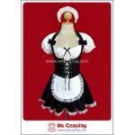 ชุดเมด Erotic French Maid Costume สีดำ Size L