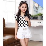 เสื้อผ้าแฟชั่นสำหรับเด็ก สวย สดใส ดีไซน์น่ารักๆ สำหรับหนูน้อย โดยเฉพาะ - ขาว 130 cm.