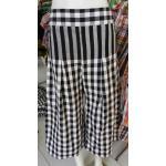 #กางเกงสี่ส่วน/ห้าส่วน ผ้าขาวม้าฝ้าย แบบขาวดำ, แบบสี ฝ้าย 100% แบบตีเกรีดปล่อยจีบ