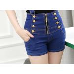 กางเกงยีนส์ขาสั้น เอวสูง ดีไซน์สวย น่าใส่มากคร่าสาวๆ - XL