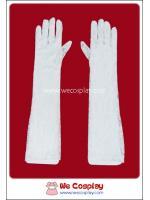 ถุงมือลูกไม้ชิโระโลลิต้า แบบยาว สีขาว White Lolita Lace Long Gloves