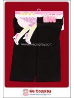 กางเกงเลคกิ้งสีดำ ระบายด้วยลูกไม้สีดำที่ปลายขา