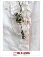 สร้อยคอโกธิคโลลิต้า จี้ดอกกุหลาบในหลอดแก้ว สีทองโบราณ Gothic Lolita Necklace