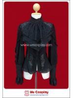 เสื้อ Blouse ควีนโกธิคโลลิต้า สีดำ ประดับลูกไม้ Black Queen Gothic Lolita Blouse