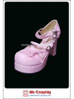 รองเท้า คิวท์โลลิต้า สีชมพู Pink Cute Lolita Shoes