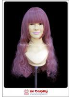 วิกผมโลลิต้า สีม่วงแดง มีหน้าม้า ผมลอนคลื่น Purple Curl Lolita Wig