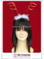 ที่คาดผมเขากวางเรนเดียร์ สีแดง Red Reindeer Antler Headband
