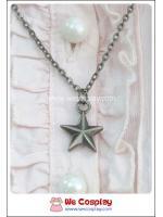 สร้อยคอโกธิค จี้รูปดาว สีนิเกิลรมดำ Gothic Necklace