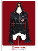 เสื้อคาร์ดิแกนพังค์ มินิซิปอัพ Punk Mini Zip Up Cardigan