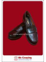 รองเท้านักเรียนญี่ปุ่น แบบเสริมส้น สีดำ Black Japanese School Shoes
