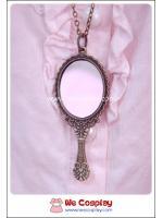 สร้อยคอโกธิคโลลิต้า จี้กระจกมือถือ สีทองโบราณ Mirror Gothic Lolita Necklace