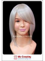 วิกผมคอสเพลย์ ทรงบ๊อบเท สีบลอนด์ซีด หน้าม้าปัด Blonde Cosplay Wig