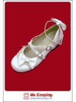 รองเท้าโกธิคโลลิต้า คลาสสิคอล สีขาวอ๊อฟไวท์