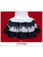 กระโปรงพังค์สีขาวดำ ชายลายหัวกะโหลก White & Black Skull Punk Skirt