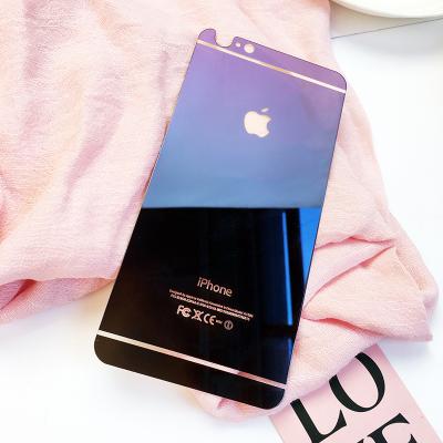 ฟิล์มกระจกหลัง Iphone 6Plus/6sPlus สีน้ำเงินฟ้า