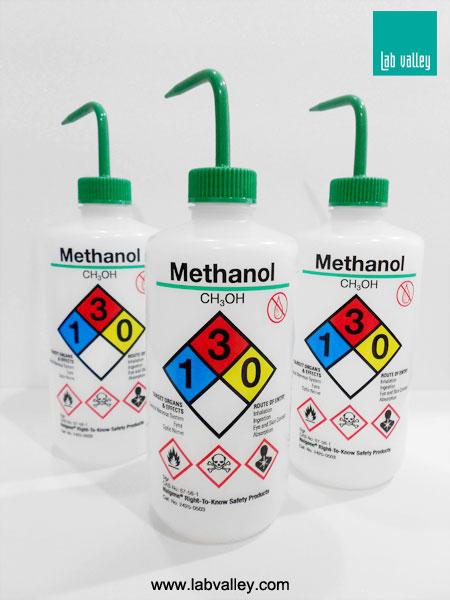 กระบอกฉีด solvent safety wash bottle methanol
