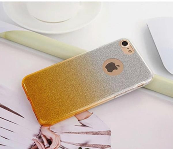เคสไอโฟน 7 (TPU Case) เคสกากเพชรสีเหลือง
