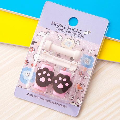 อุปกรณ์ถนอมหูฟัง/สายชาร์จโทรศัพท์มือถือ อุ้งตีนหมีน้อย (1 Pack/1 คู่)