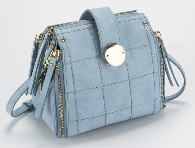 กระเป๋าถือแฟชั่น ตัดด้วยหนังกลับสีสวยๆ เดินด้ายเล่นลายรับกับซิบรอบด้าน