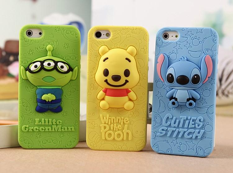 เคสไอโฟน 5/5s/SE เคสซิลิโคน Stitch สีฟ้า (ภาพขวาสุด)