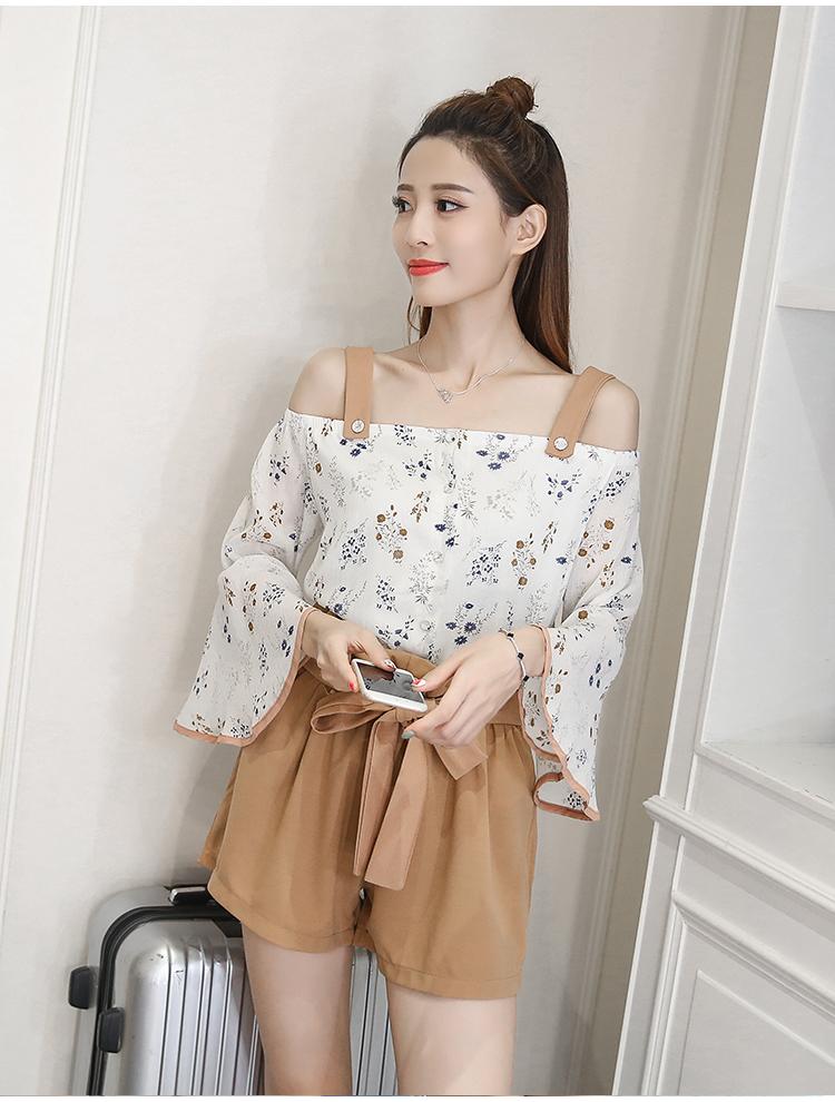 เซ็ทเสื้อ+กางเกงแฟชั่นสไตล์สาวเกาหลี ลายสวย เนื้อดี น่าสวมใส่