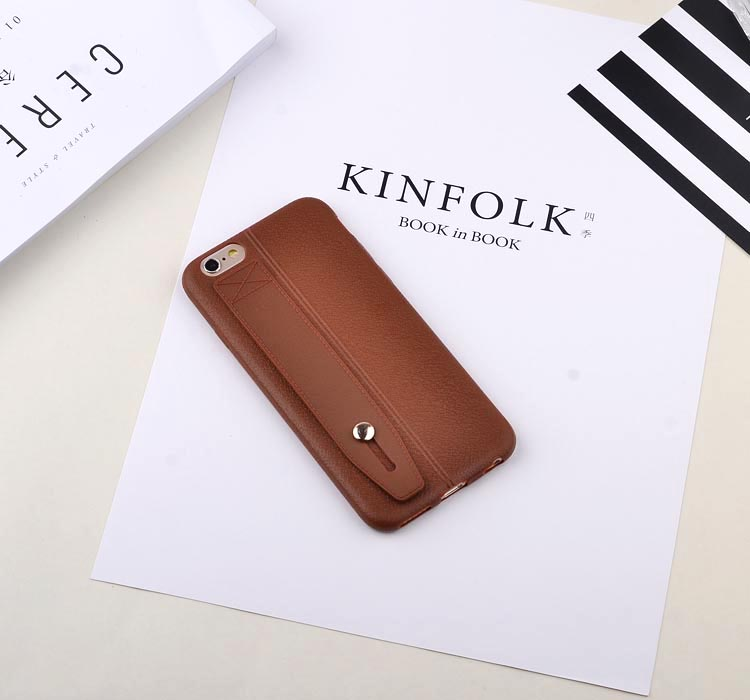 เคสไอโฟน 6P/6sPlus ( Silicone Case) พร้อมที่วางฝ่ามือ สีน้ำตาล