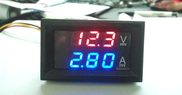 โวลต์แอมป์มิเตอร์ 100V 10A DC