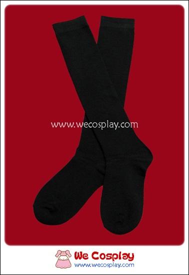 ถุงเท้าโกธิคโลลิต้า ยาวระดับเข่า สีดำ