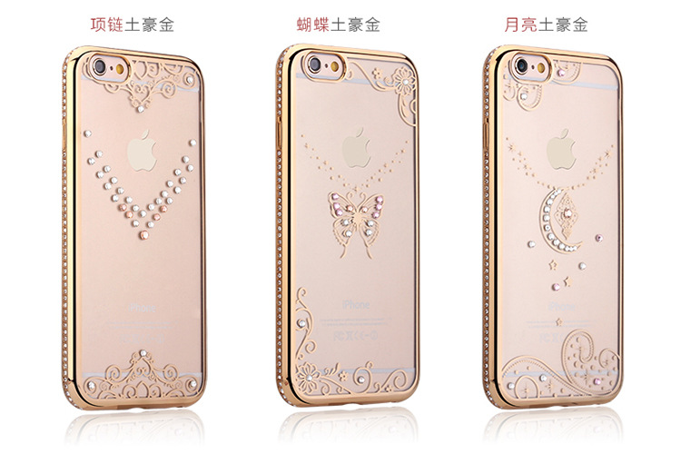 Case iphone 6 Plus / 6s Plus (TPU Case) Golden Butterfly (ภาพกลาง)