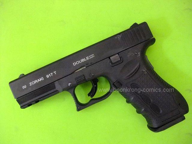 Zoraki 917T Black / Glock 17 Front Firing 9mm.PAK Blank Gun