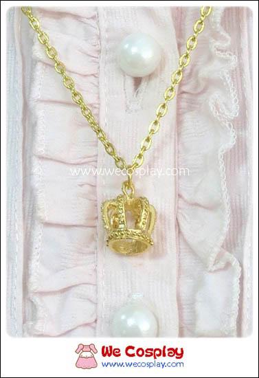 สร้อยคอโลลิต้า จี้มงกุฎ 3D สีทอง Lolita Necklace