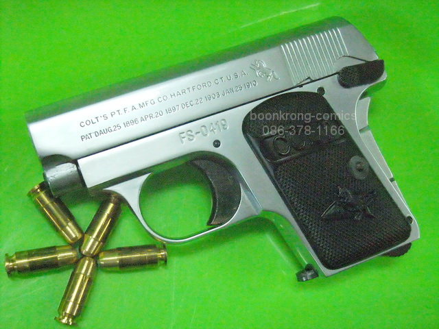 FS Colt Model 1908 Vest Pocket .25 Auto Chrome Model Gun