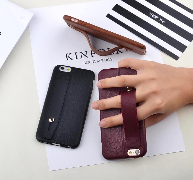 เคสไอโฟน 6P/6sPlus ( Silicone Case) พร้อมที่วางฝ่ามือ สีเลือดหมู