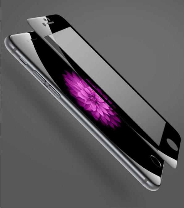 ฟิล์มกระจก 3D เต็มจอ แกร่ง ทน 9H สำหรับ Iphone 6Plus/6sPlus (สีดำ)