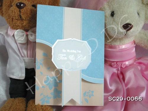 SC29-0066 การ์ดแต่งงานแบบเรียบหรู
