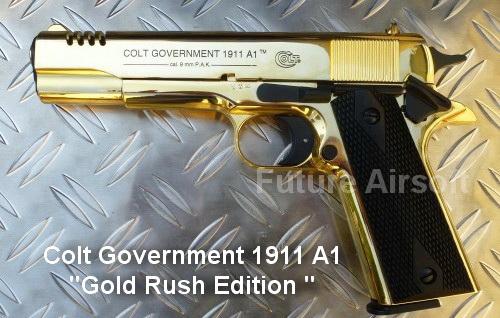 ๊Umarex Colt Government 1911 A1 Gold Rush Limited Edition Blank gun