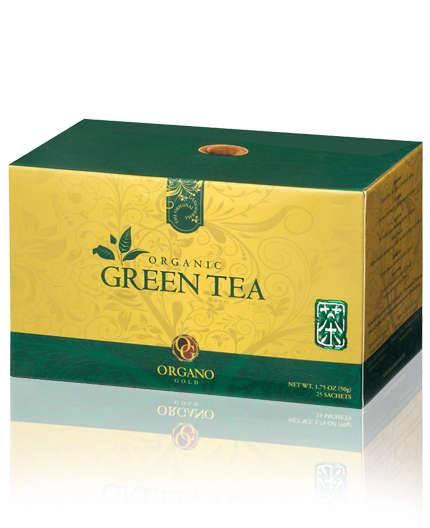 Green Tea Organic ชาเขียวคุณภาพ ผสมกับเห็ดหลินจือ ผสมอย่างลงตัว เพื่อความสดชื่นที่แท้จริง