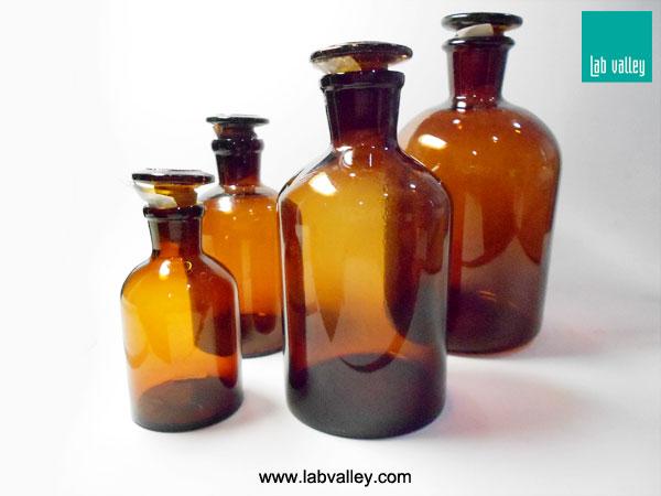 ขวดรีเอเจ้นท์สีชา amber reagent glass bottle