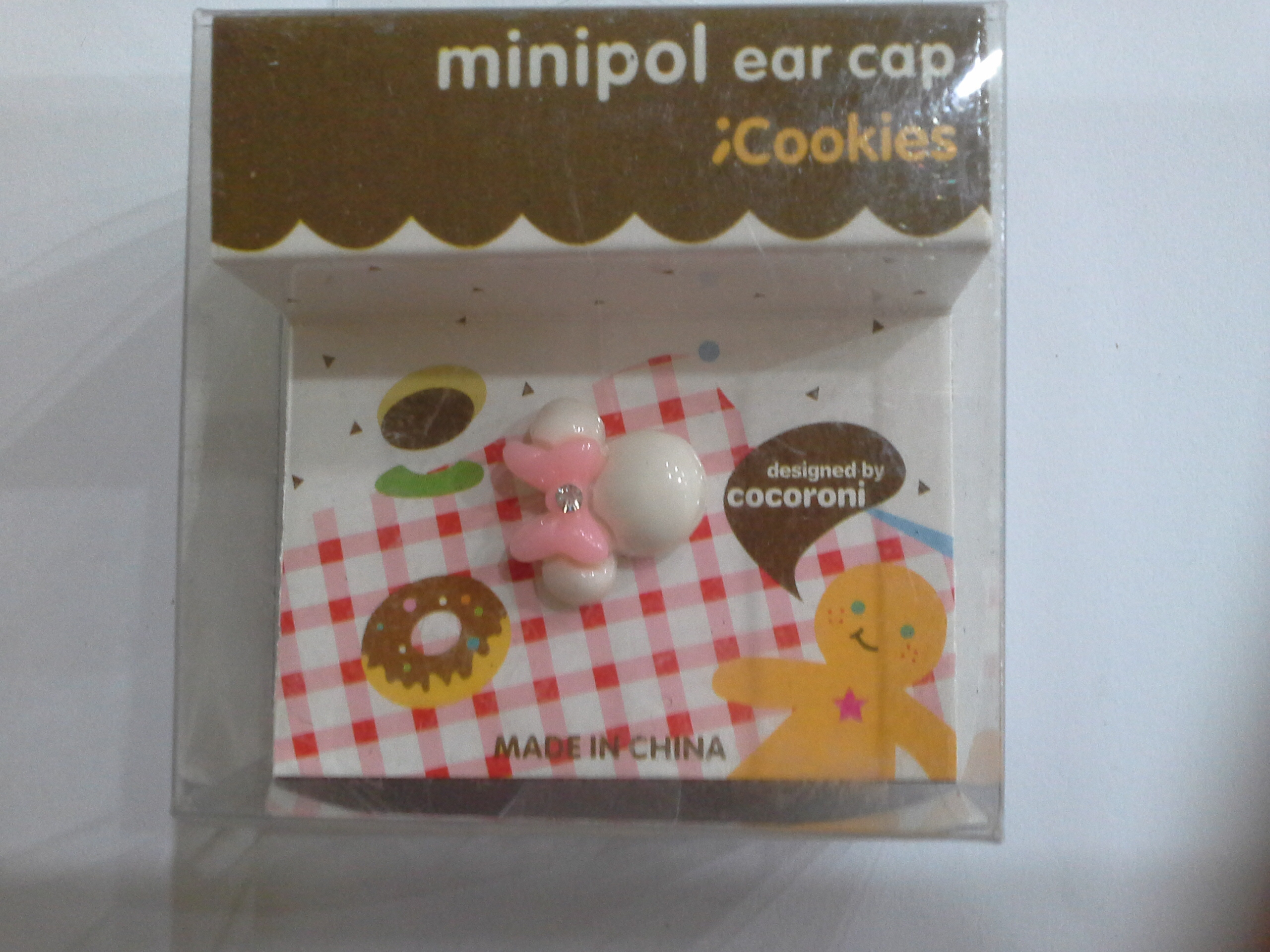 จุกเสียบ Minipol ear cap Cookies แบบ 1