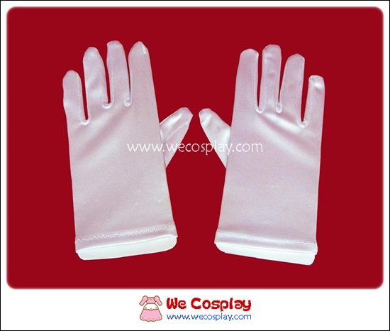 ถุงมือสั้น สีขาว White Short Gloves