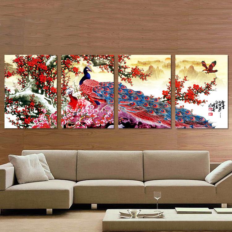 ภาพนกยูงกับต้นบ๊วยแดง arthome130