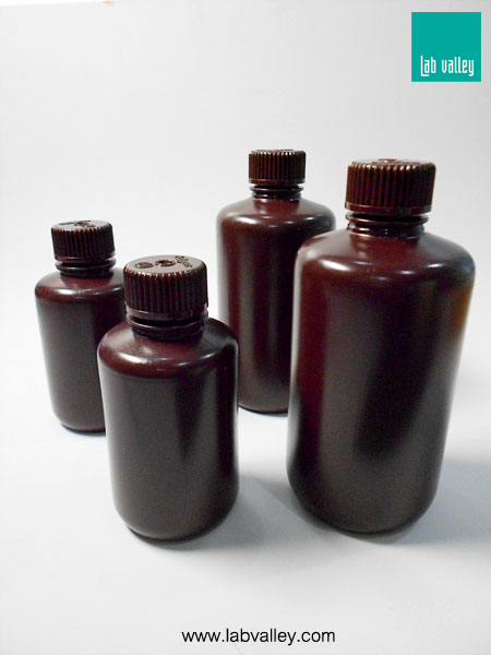 ขวดพลาสติกสีชา amber narrow mouth plastic bottle