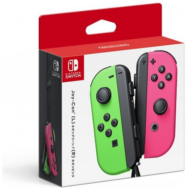 NINTENDO SWITCH JOY-CON CONTROLLERS (Green/Pink)