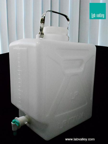 ถังใส่น้ำกลั่นพร้อมก๊อกเปิดปิด aspirator bottle