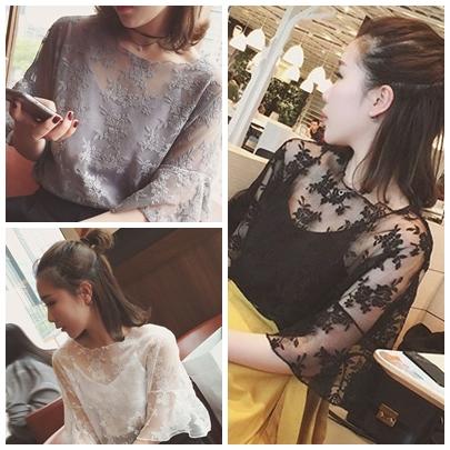 เสื้อลูกไม้แฟชั่นสวยๆ ใส่วัยไหนก็สวย มี 3 สีให้เลือกใส่ตามโอกาส