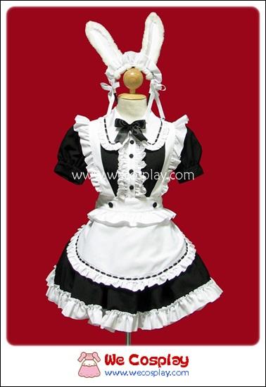 ชุดเมดกระต่าย Rabbit Maid Costume สีดำ