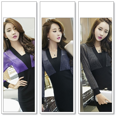 เดรสแฟชั่น ตัดสีทูโทน กับสไตล์ชุดแบบสาวเกาหลี ดูเด่น มีเอกลักษณ์มากๆ ค่ะ
