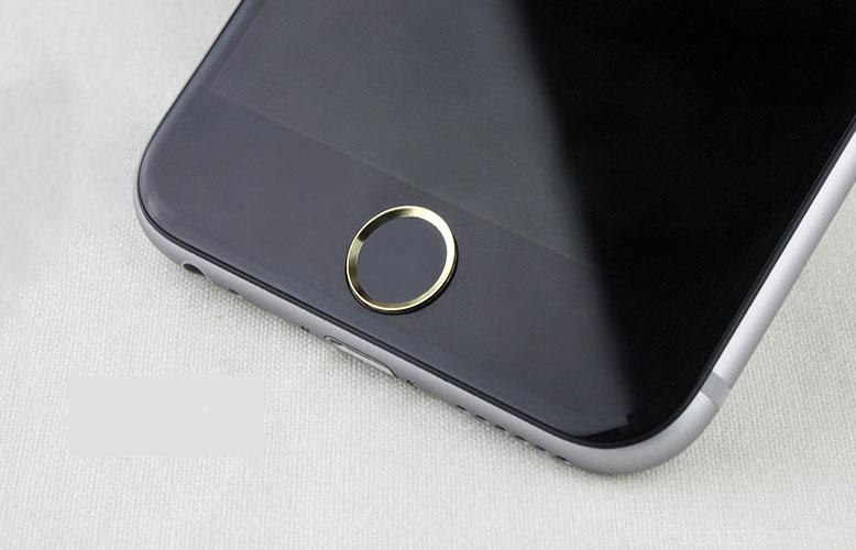 ปุ่มโฮมไฮโฟน (Touch ID Button) สแกนลายนิ้วมือได้ สีดำขอบทอง